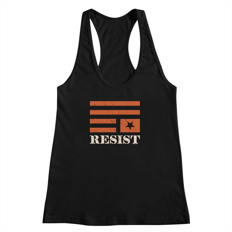 RESIST Women's Racerback Tank by angryblue's Artist Shop