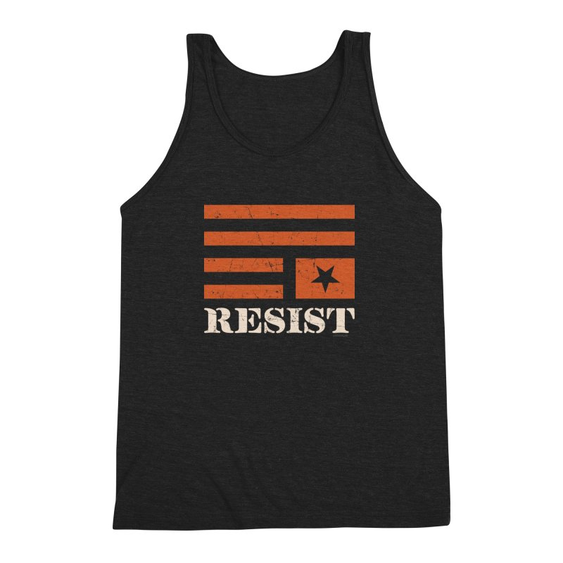 RESIST Men's Triblend Tank by angryblue's Artist Shop