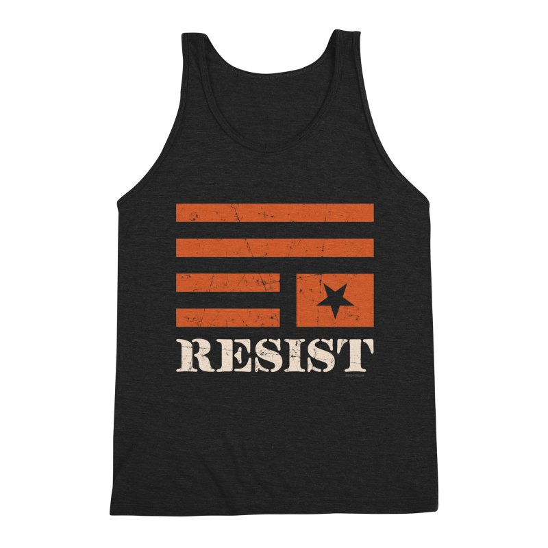 RESIST Men's Triblend Tank by Angryblue