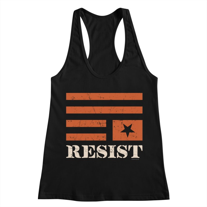 RESIST Women's Racerback Tank by Angryblue