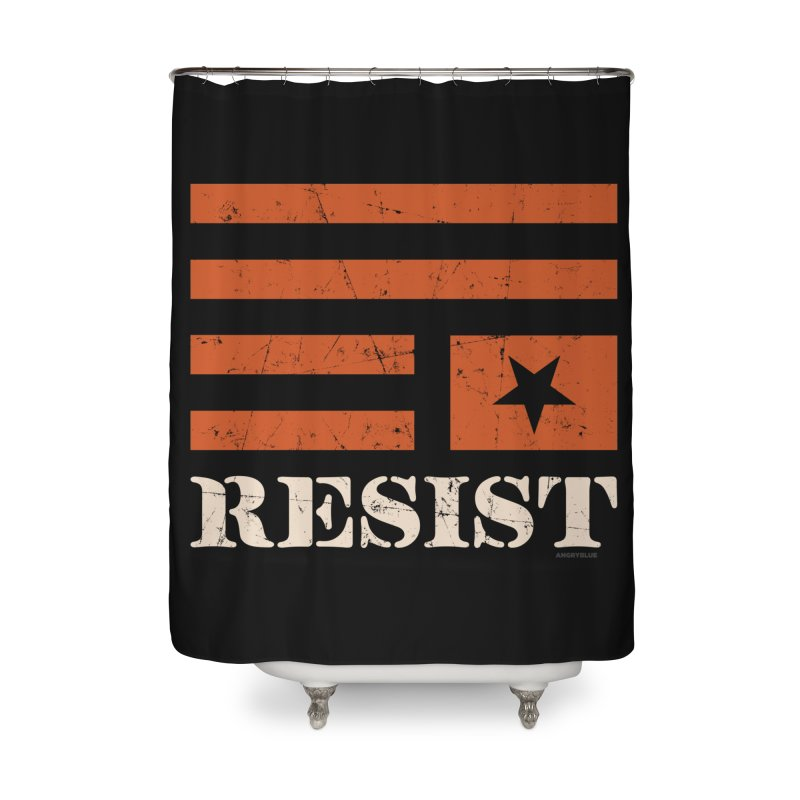 RESIST Home Shower Curtain by angryblue's Artist Shop