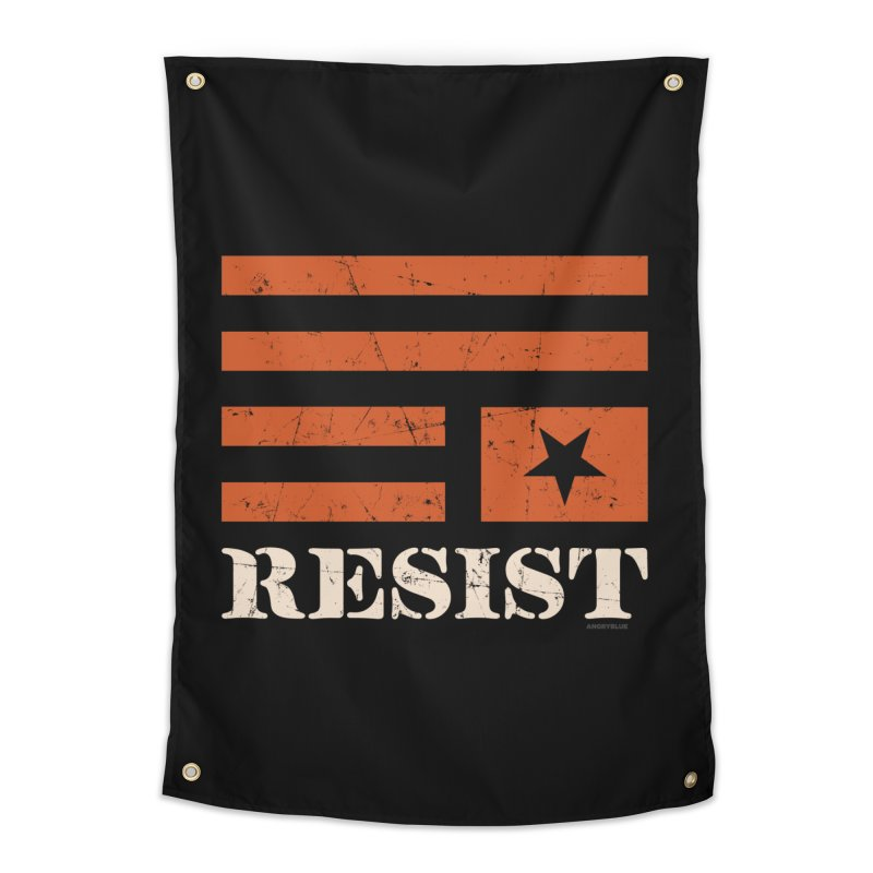 RESIST Home Tapestry by Angryblue