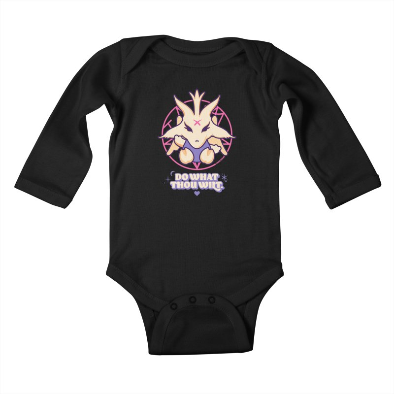 Do What Thou Wilt Kids Baby Longsleeve Bodysuit by angryblue's Artist Shop