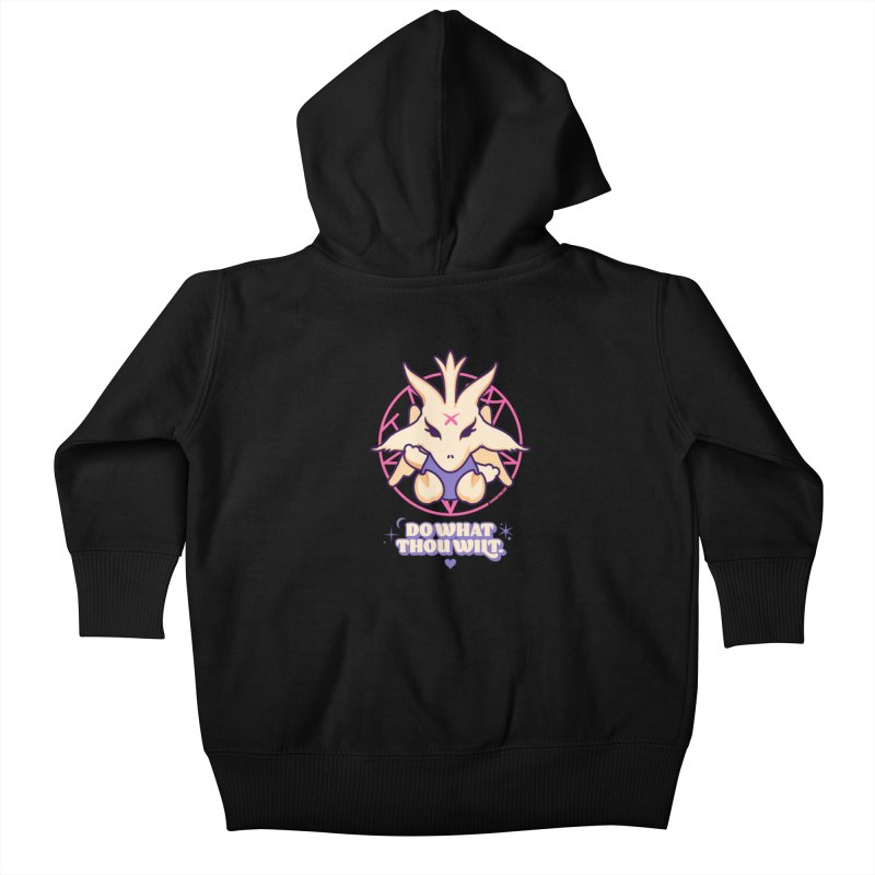 Do What Thou Wilt Kids Baby Zip-Up Hoody by angryblue's Artist Shop