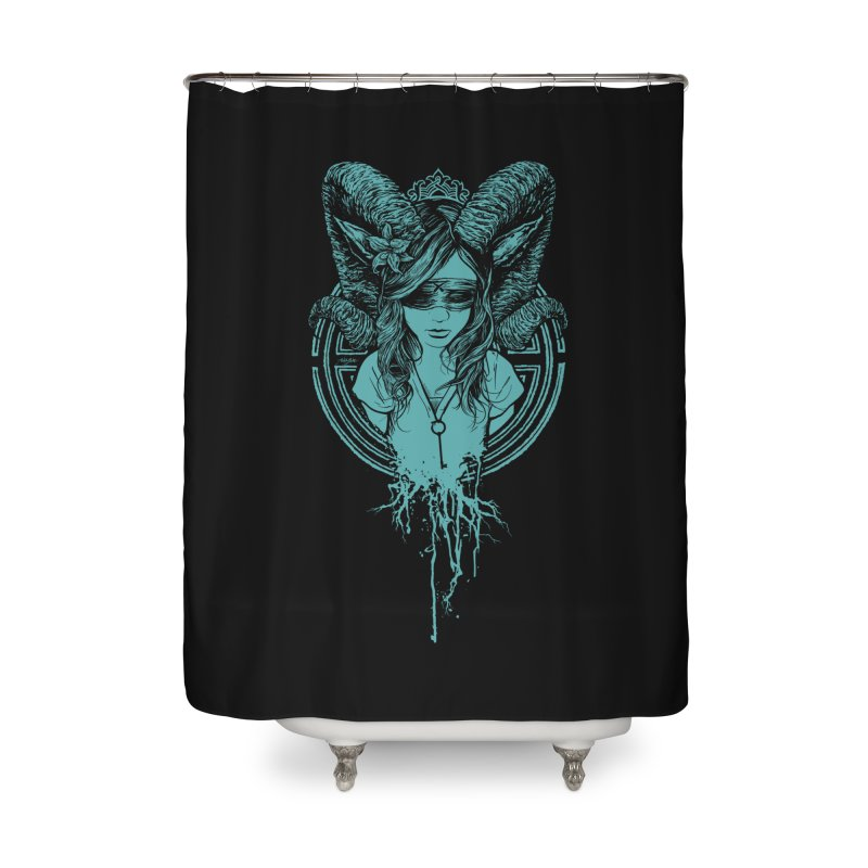 Faun Home Shower Curtain by angryblue's Artist Shop