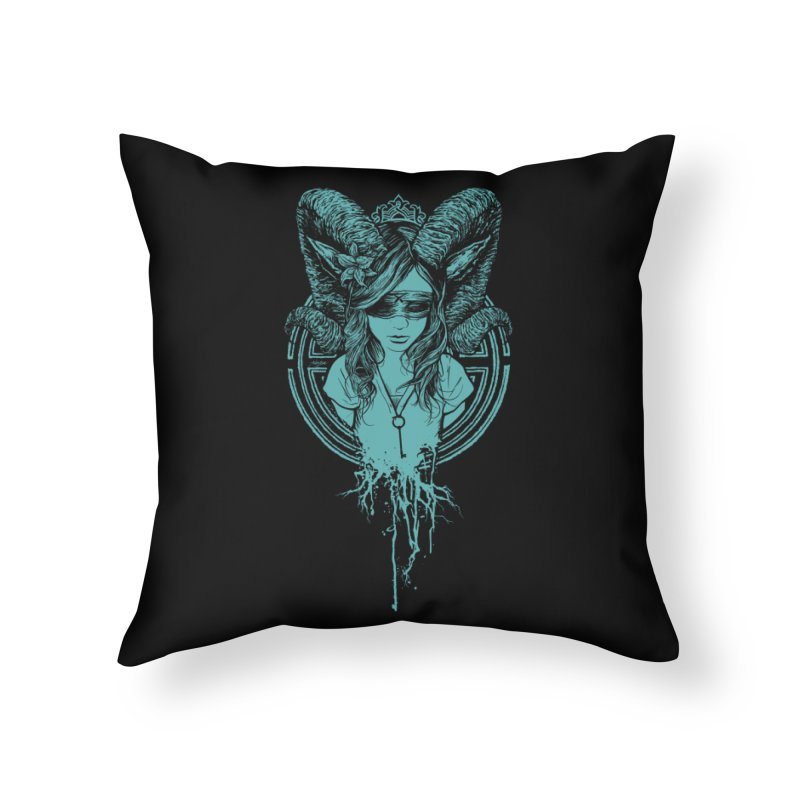 Faun Home Throw Pillow by angryblue's Artist Shop