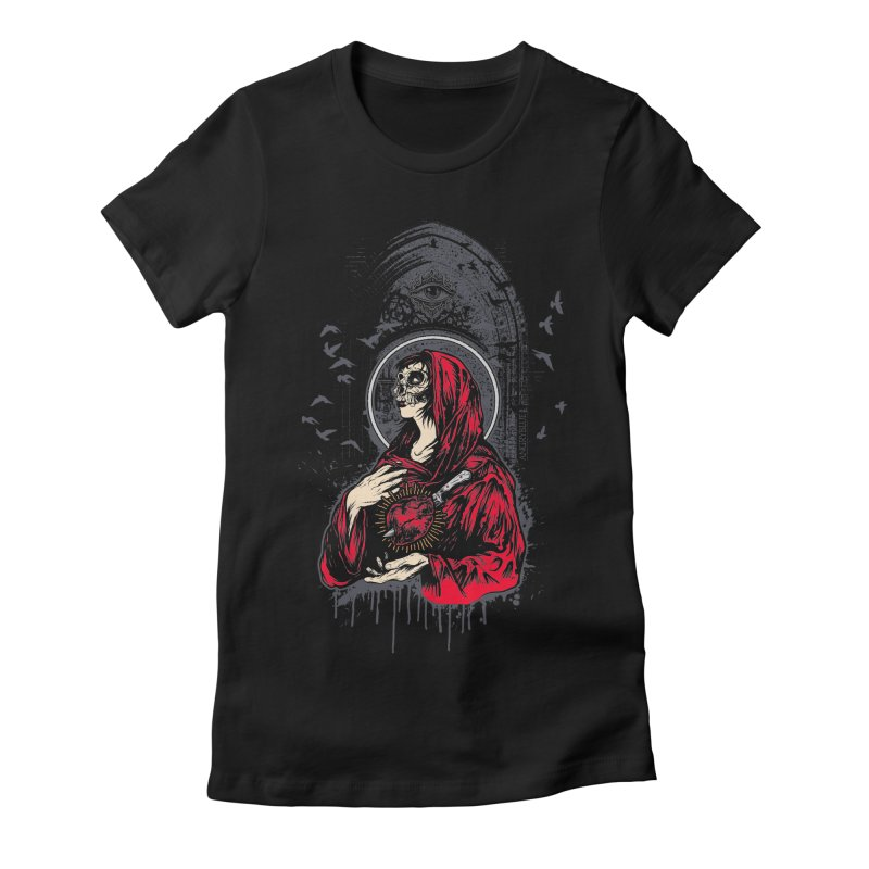 Mary Women's Fitted T-Shirt by Angryblue