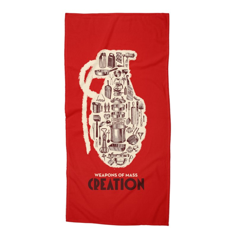 Weapons of Mass Creation - Cooking Accessories Beach Towel by angryblue's Artist Shop