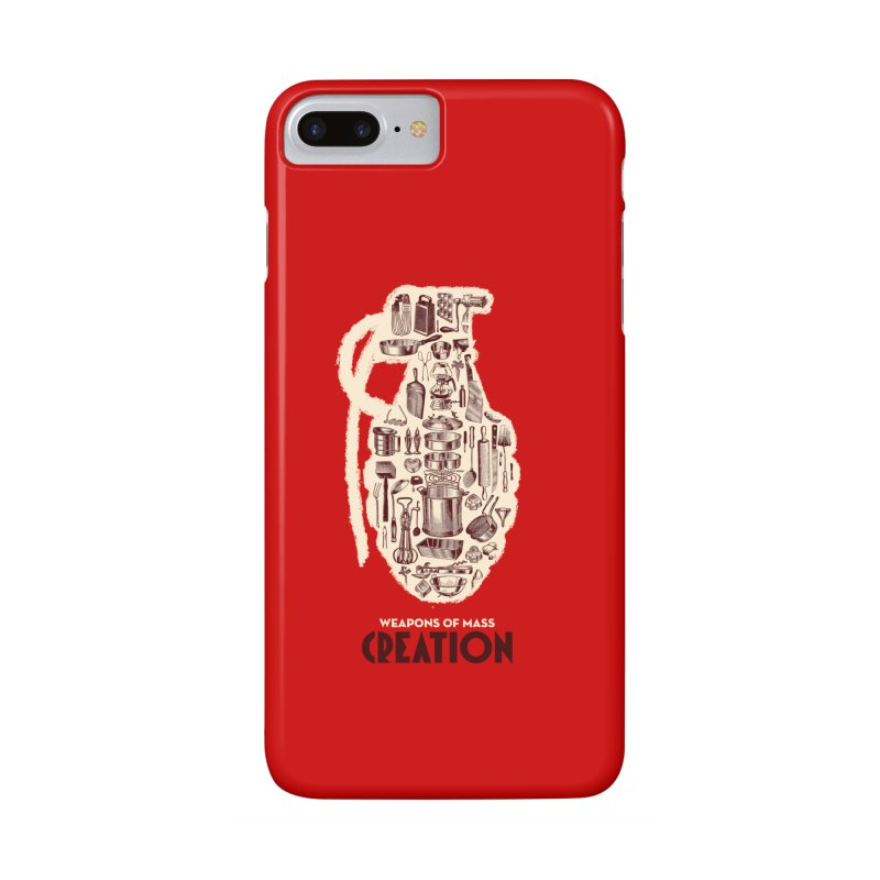 Weapons of Mass Creation - Cooking Accessories Phone Case by angryblue's Artist Shop