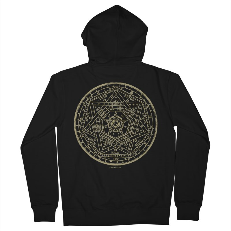 Synth Sigil Men's Zip-Up Hoody by Angryblue