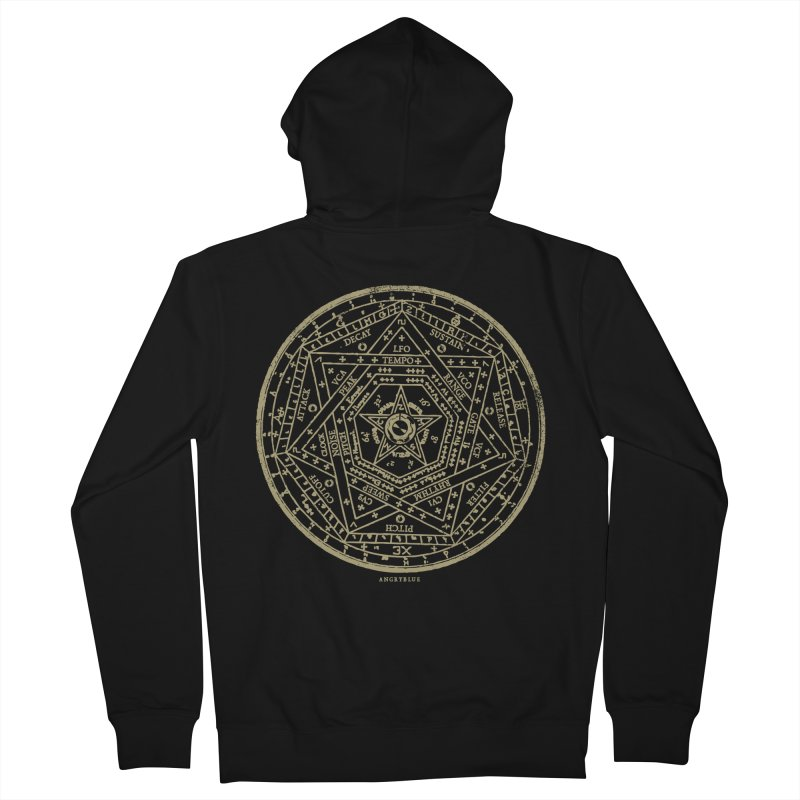 Synth Sigil Men's French Terry Zip-Up Hoody by angryblue's Artist Shop
