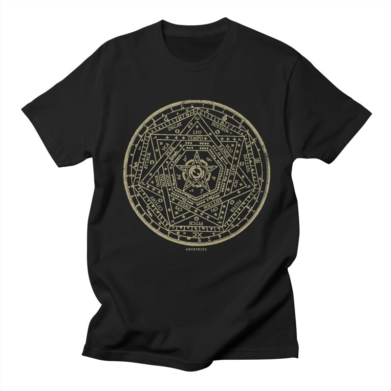 Synth Sigil Men's T-Shirt by Angryblue