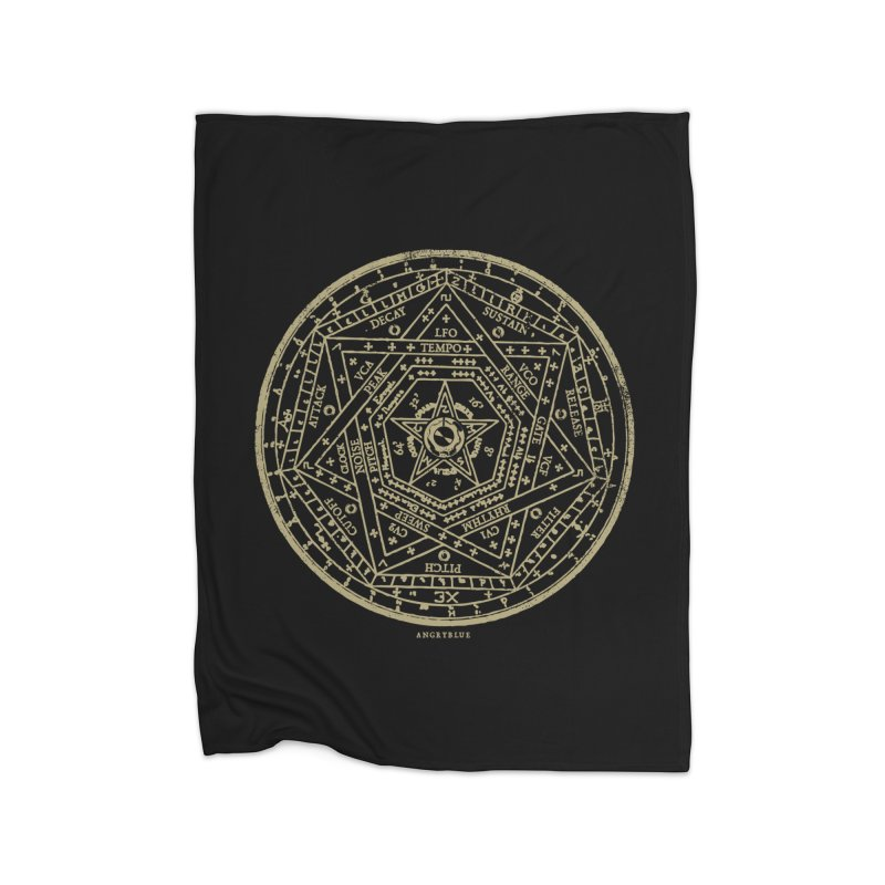 Synth Sigil Home Fleece Blanket by angryblue's Artist Shop