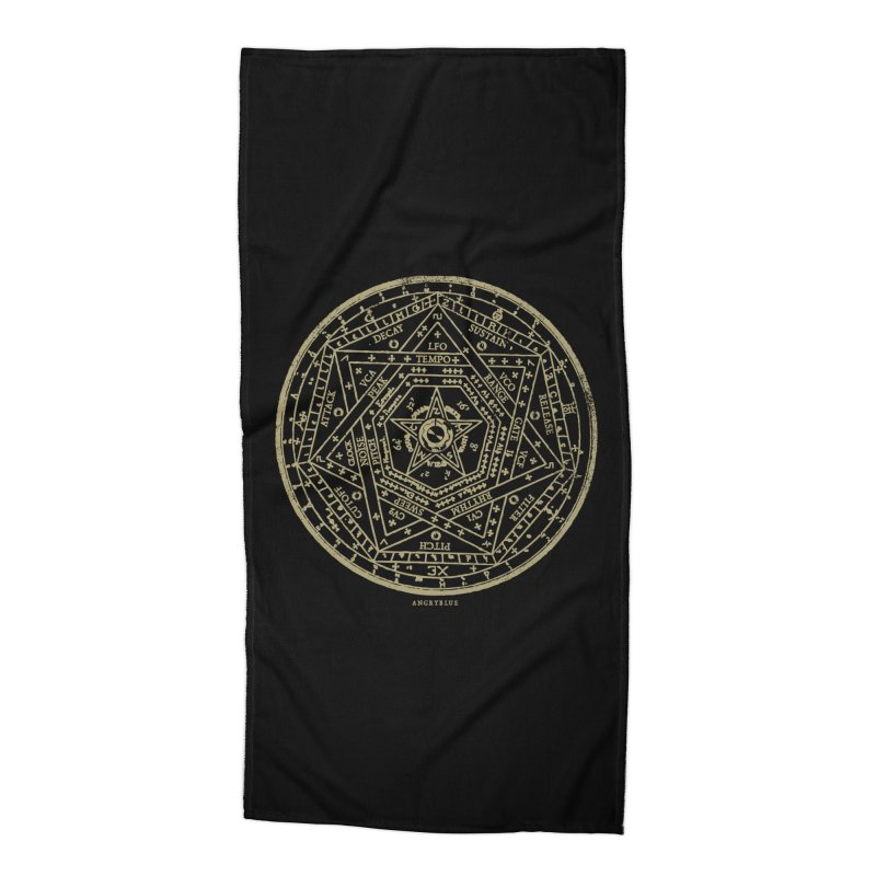 Synth Sigil Accessories Beach Towel by angryblue's Artist Shop