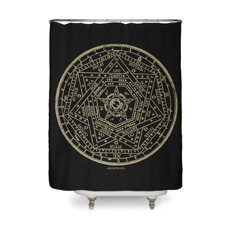 Synth Sigil Home Shower Curtain by Angryblue