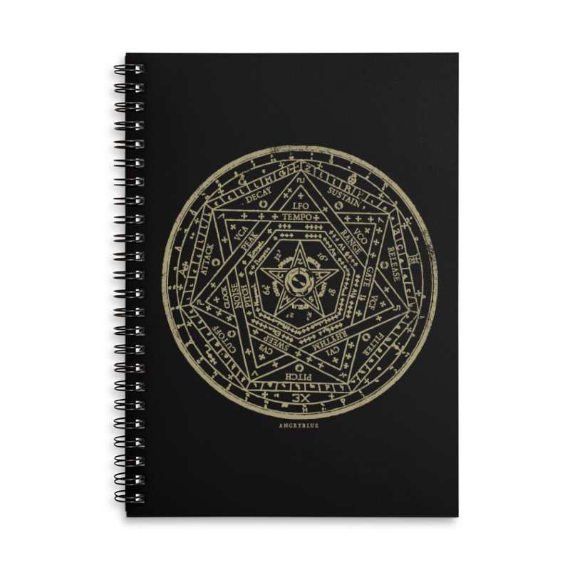 Synth Sigil Accessories Lined Spiral Notebook by Angryblue