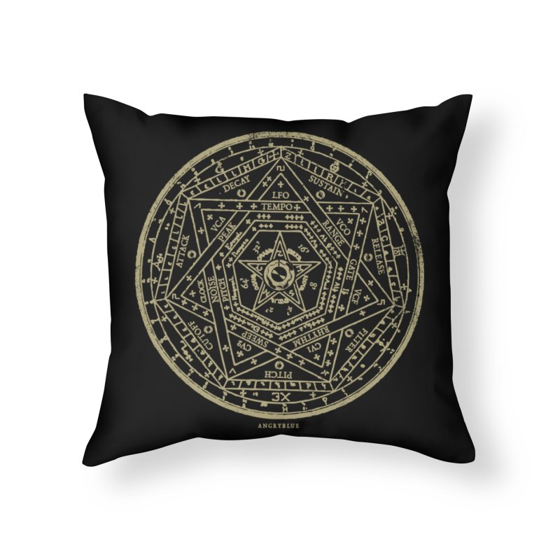 Synth Sigil Home Throw Pillow by angryblue's Artist Shop