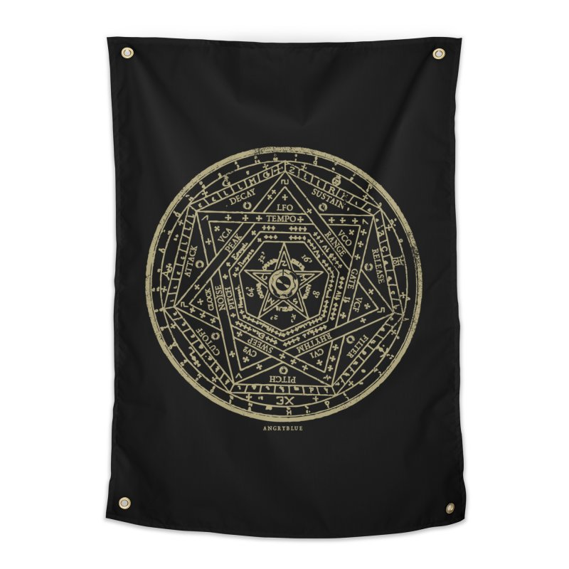 Synth Sigil Home Tapestry by Angryblue