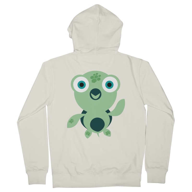 Honu Men's French Terry Zip-Up Hoody by Angry Guppie Design's Artist Shop