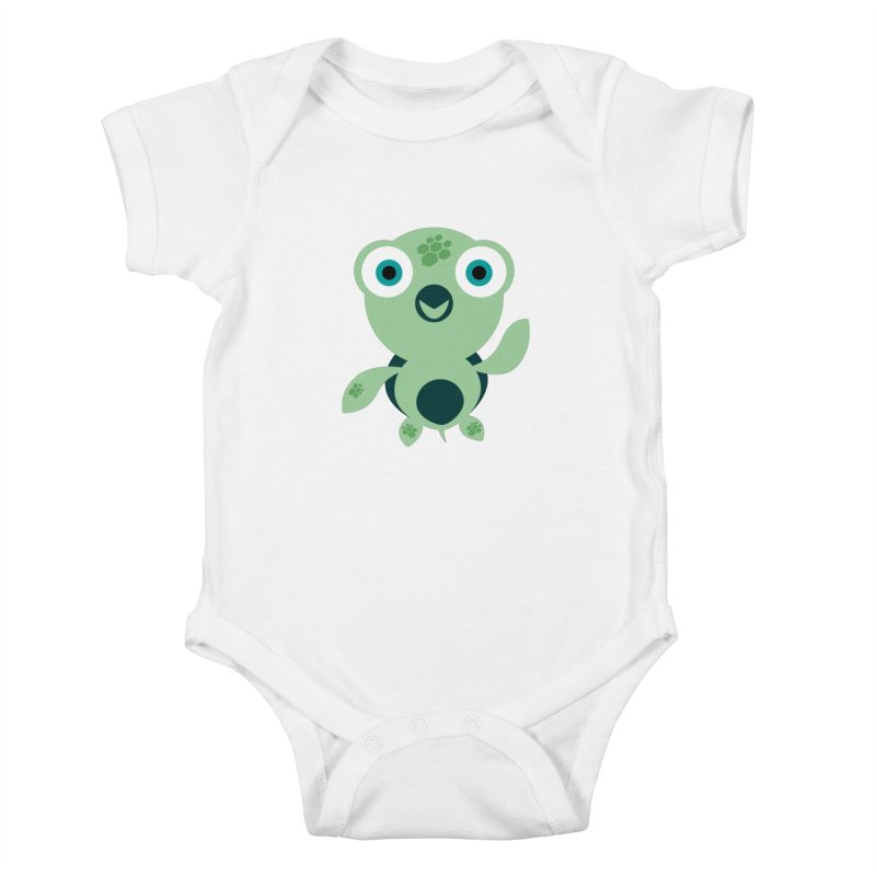 Honu Kids Baby Bodysuit by Angry Guppie Design's Artist Shop