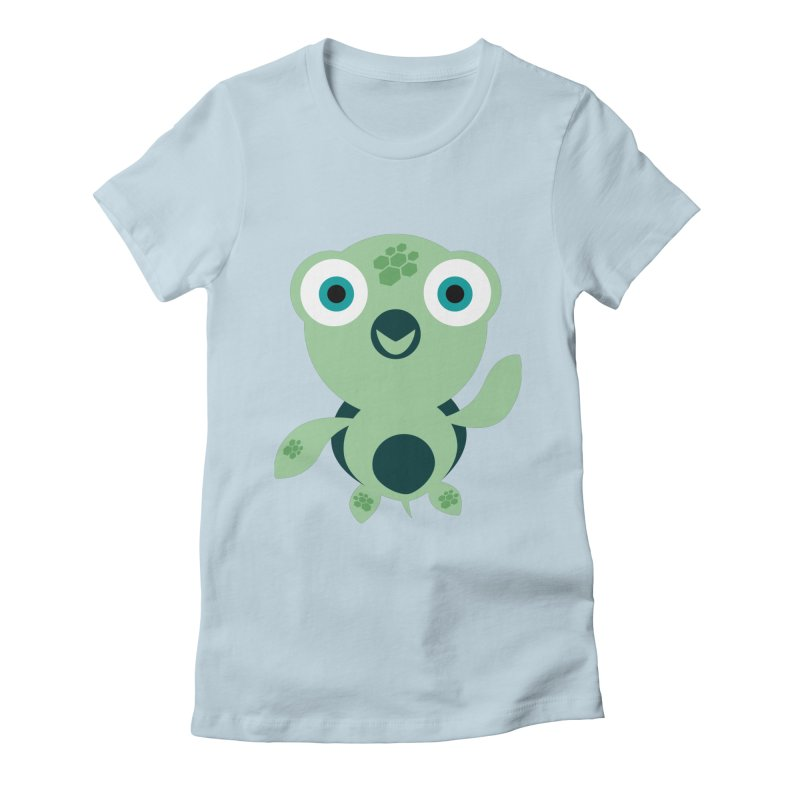 Honu Women's Fitted T-Shirt by Angry Guppie Design's Artist Shop