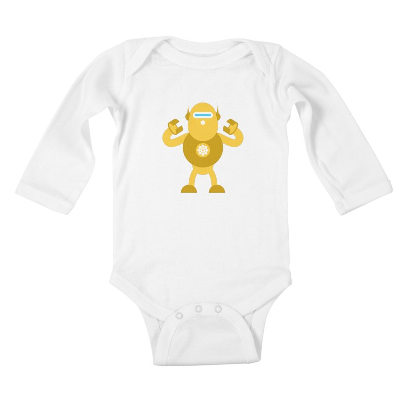 Mr Robot Kids Baby Longsleeve Bodysuit by Angry Guppie Design's Artist Shop