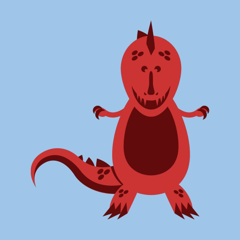 Red T-rex   by Angry Guppie Design's Artist Shop