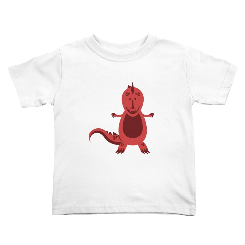 Red T-rex Kids Toddler T-Shirt by Angry Guppie Design's Artist Shop