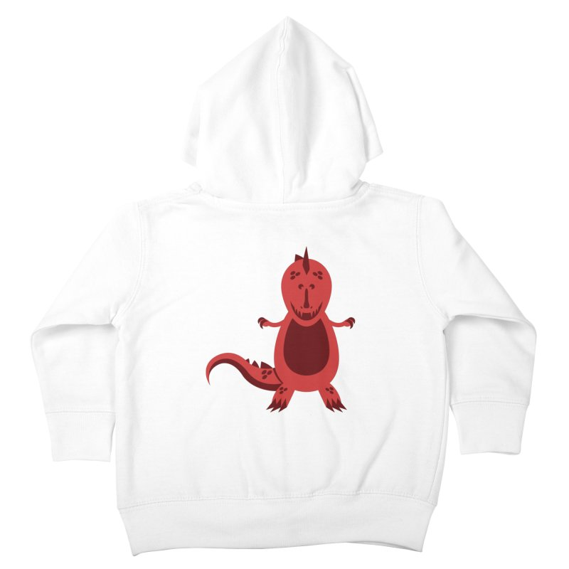 Red T-rex Kids Toddler Zip-Up Hoody by Angry Guppie Design's Artist Shop