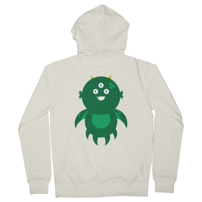 Happy Sea Monster Women's French Terry Zip-Up Hoody by Angry Guppie Design's Artist Shop