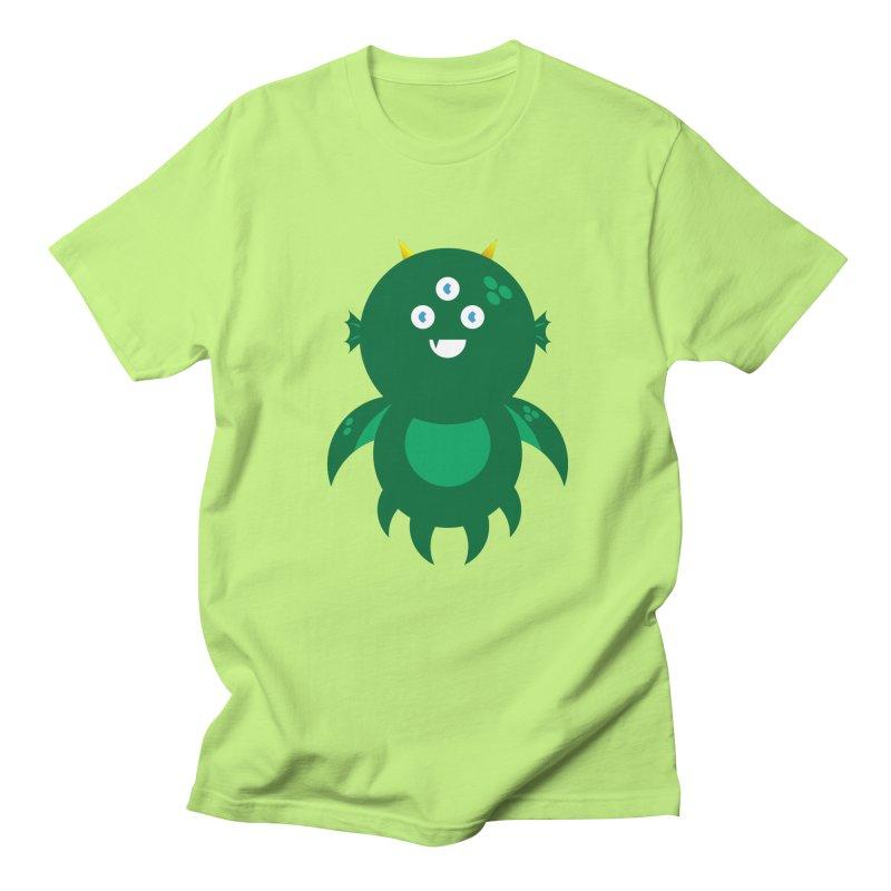 Happy Sea Monster Men's Regular T-Shirt by Angry Guppie Design's Artist Shop