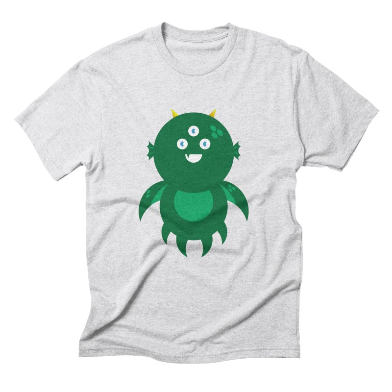 Happy Sea Monster Men's Triblend T-Shirt by Angry Guppie Design's Artist Shop