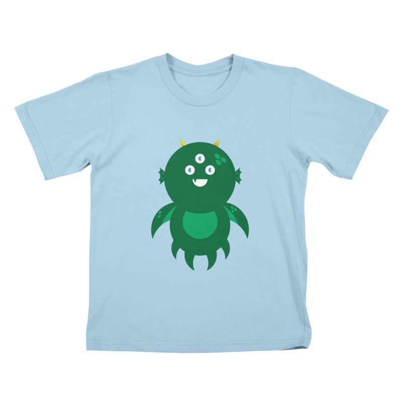 Happy Sea Monster Kids T-Shirt by Angry Guppie Design's Artist Shop