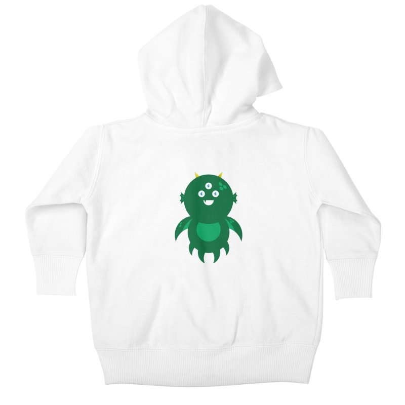 Happy Sea Monster Kids Baby Zip-Up Hoody by Angry Guppie Design's Artist Shop