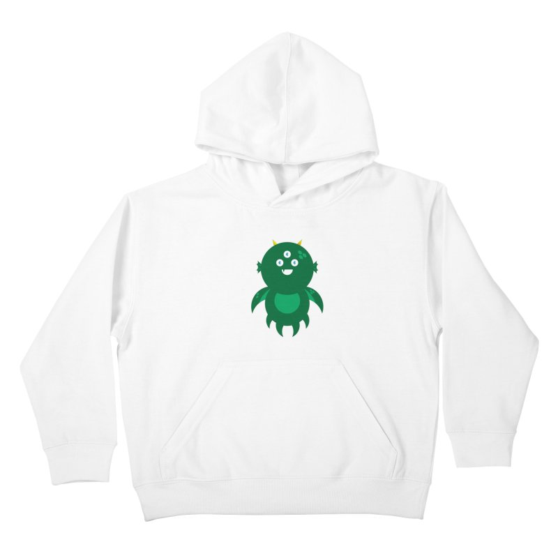 Happy Sea Monster Kids Pullover Hoody by Angry Guppie Design's Artist Shop