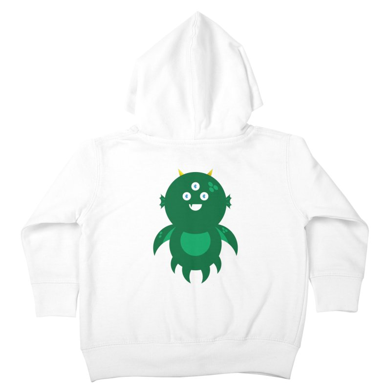 Happy Sea Monster Kids Toddler Zip-Up Hoody by Angry Guppie Design's Artist Shop