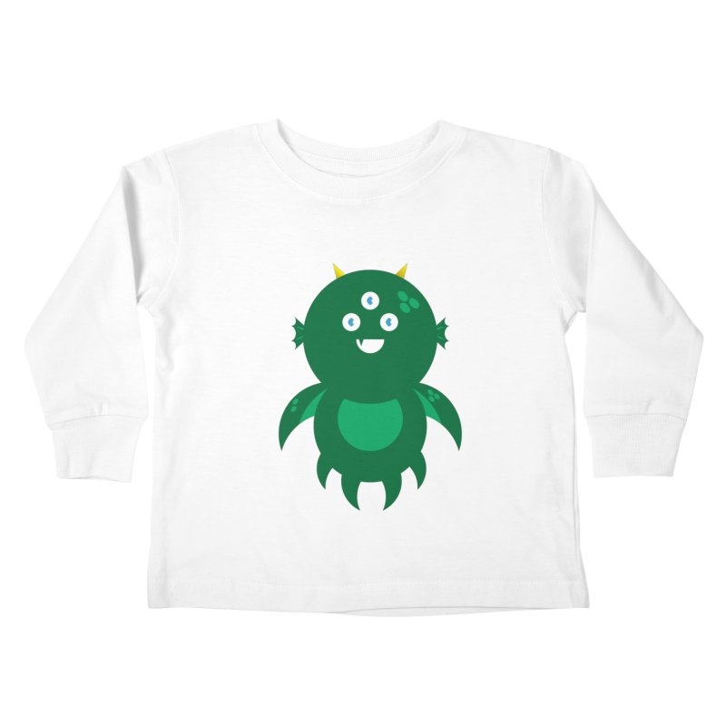 Happy Sea Monster Kids Toddler Longsleeve T-Shirt by Angry Guppie Design's Artist Shop