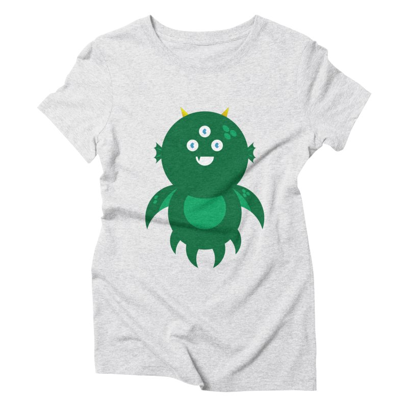 Happy Sea Monster Women's Triblend T-Shirt by Angry Guppie Design's Artist Shop