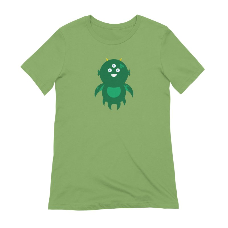 Happy Sea Monster Women's Extra Soft T-Shirt by Angry Guppie Design's Artist Shop