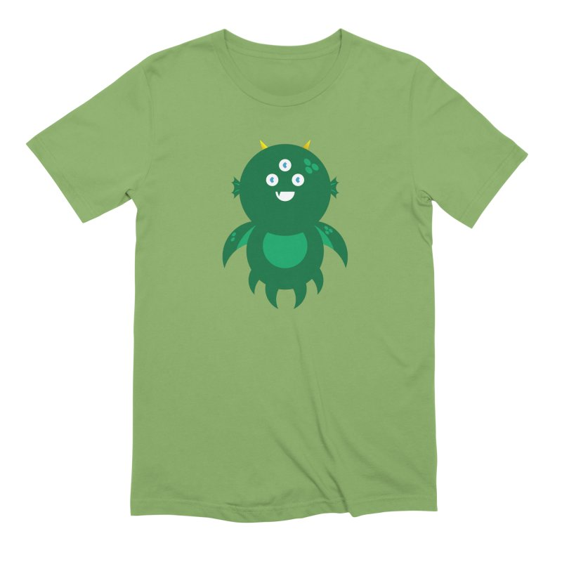 Happy Sea Monster Men's Extra Soft T-Shirt by Angry Guppie Design's Artist Shop