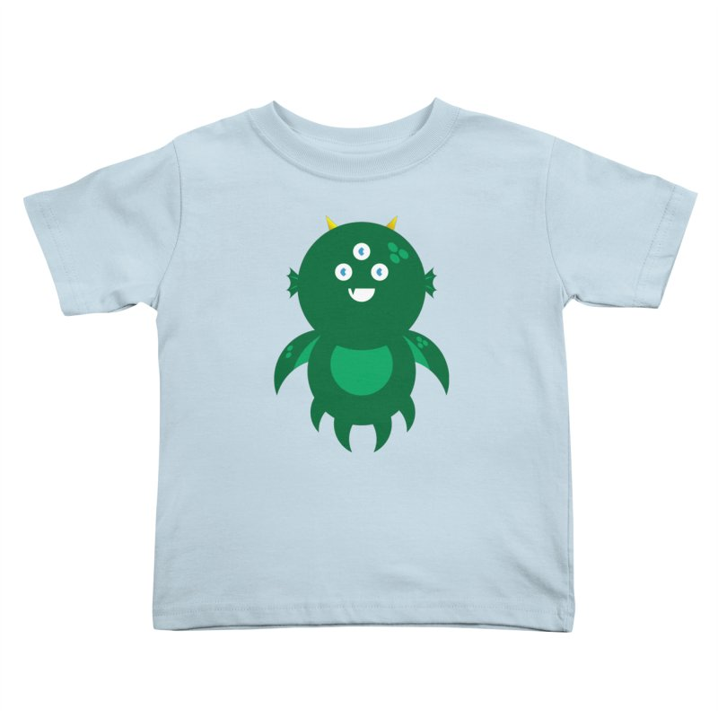 Happy Sea Monster Kids Toddler T-Shirt by Angry Guppie Design's Artist Shop