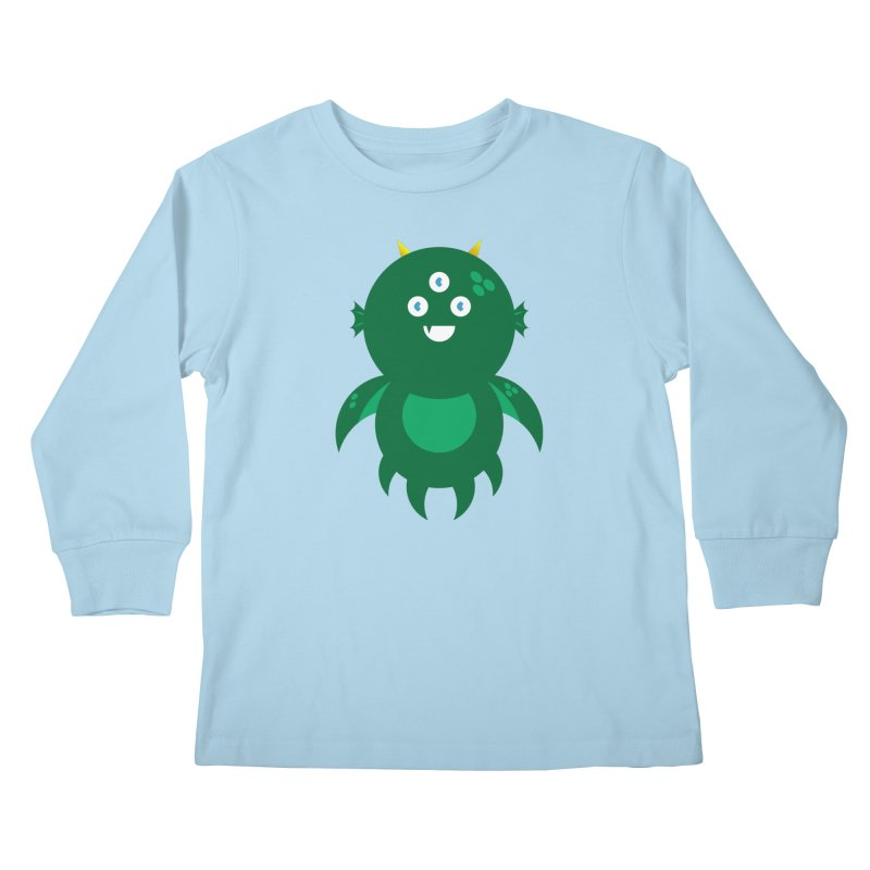 Happy Sea Monster Kids Longsleeve T-Shirt by Angry Guppie Design's Artist Shop