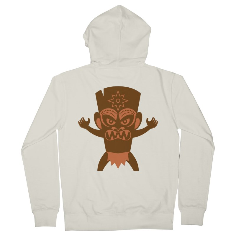 Tiki Men's French Terry Zip-Up Hoody by Angry Guppie Design's Artist Shop