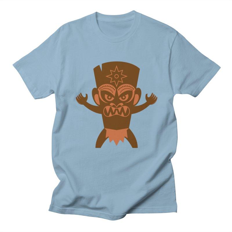 Tiki Men's Regular T-Shirt by Angry Guppie Design's Artist Shop