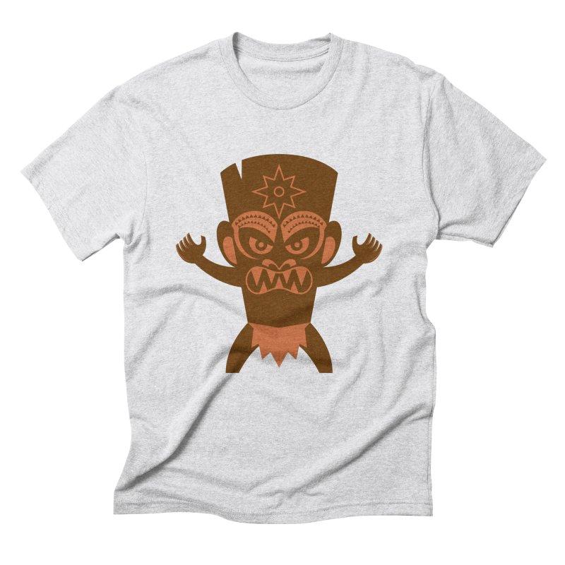 Tiki Men's Triblend T-Shirt by Angry Guppie Design's Artist Shop