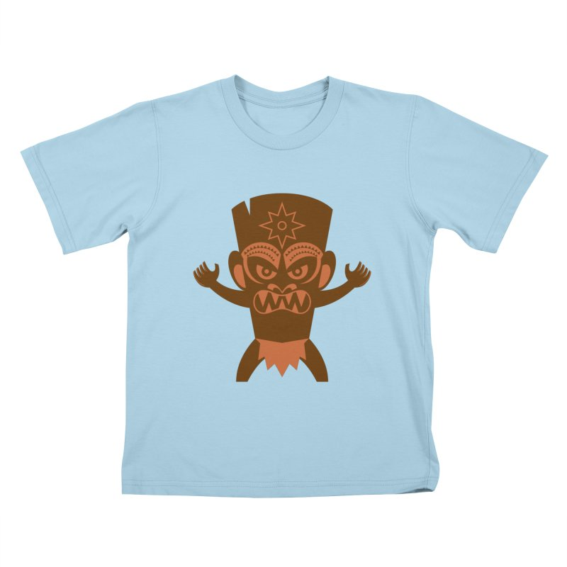Tiki Kids T-Shirt by Angry Guppie Design's Artist Shop