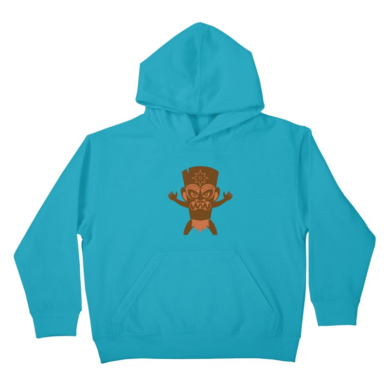 Tiki Kids Pullover Hoody by Angry Guppie Design's Artist Shop
