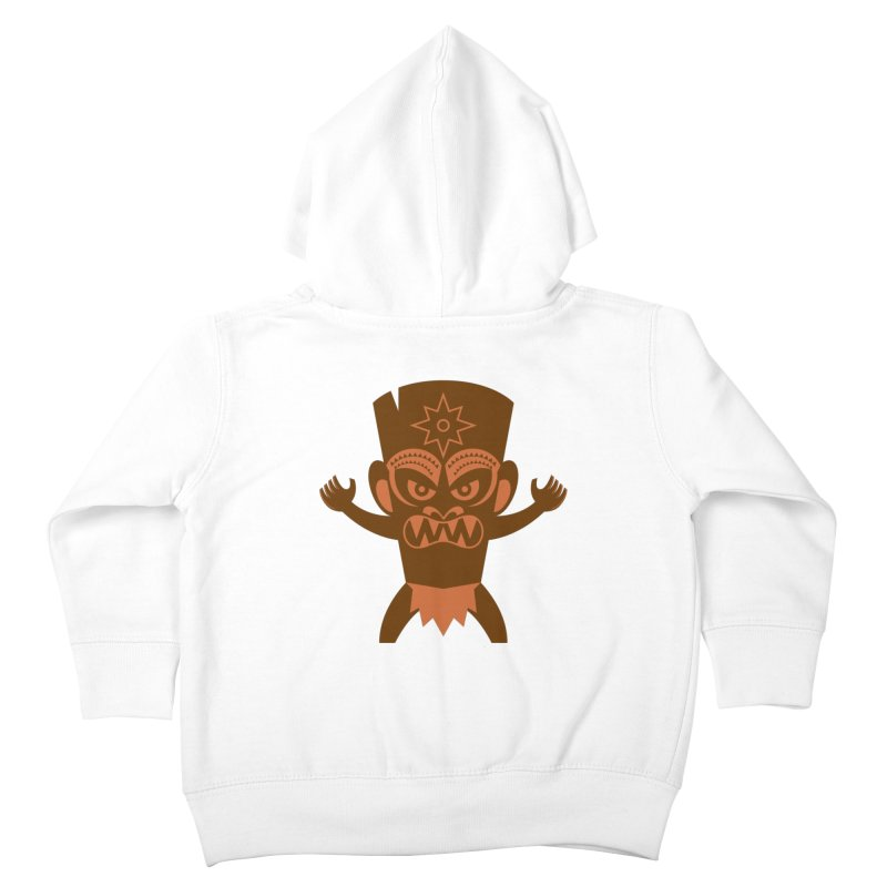 Tiki Kids Toddler Zip-Up Hoody by Angry Guppie Design's Artist Shop