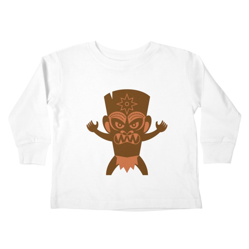 Tiki Kids Toddler Longsleeve T-Shirt by Angry Guppie Design's Artist Shop