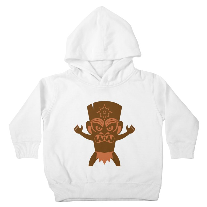 Tiki Kids Toddler Pullover Hoody by Angry Guppie Design's Artist Shop